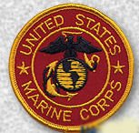 "UNITED STATES MARINE CORPS USMC 3"" Round Military Patch Red"