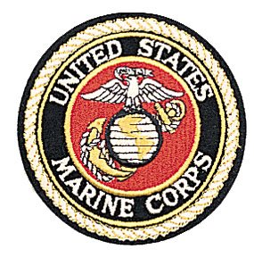 "UNITED STATES MARINE CORPS DELUXE USMC 4"" Round Military Patch"
