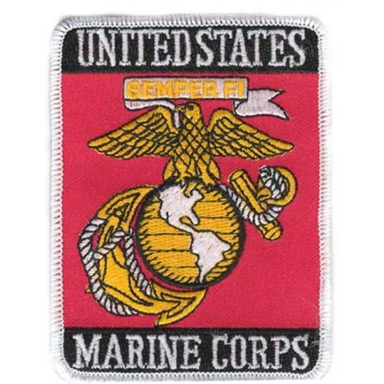 LIMITED EDITION: U.S. Marine Corps USMC Eagle Globe & Anchor Parris Island Rectangle Patch