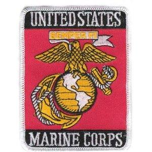 U.S. Marine Corps USMC Eagle Globe & Anchor Rectangle Patch