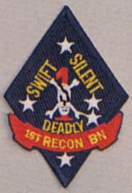 USMC United States Marine Corps 1st Recon Battalion~ SWIFT SILENT DEADLY~ Patch