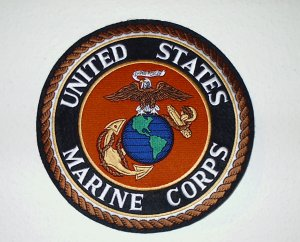 "RARE FIND~U.S. Marine Corps 10"" Eagle Globe & Anchor Full Color Jacket Patch"
