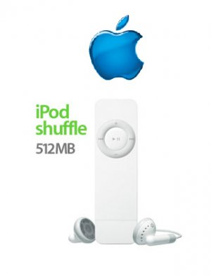 Apple iPod Shuffle 512MB Pocket-Size Digital Music MP3 Player FREE SHIPPING!!!!!!!!!