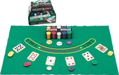 Club Fun 200pc Texas Hold'em Poker Set NEW!! FREE SHIPPING!!!!