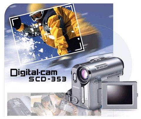 Samsung SCD-353 - Mini DV Camcorder  Free Shipping!!!!