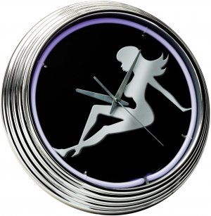 Neon Clock Lady Silhouette FREE SHIPPING!!!