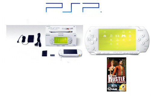 "Sony PSP Limited Edition ""Ceramic White"" Bundle + One ""Hot"" PSP Game free shipping!!!"