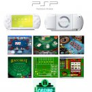 "Sony PSP Ceramic White - ""Casino Royal"" Bundle with 14 Superb Casino Games FREE SHIPPING!!!"