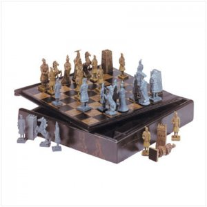 CHINESE WARRIOR CHESS SET FREE SHIPPING!!!