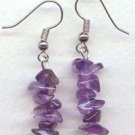 Straight Amethyst chips Dangling Earrings