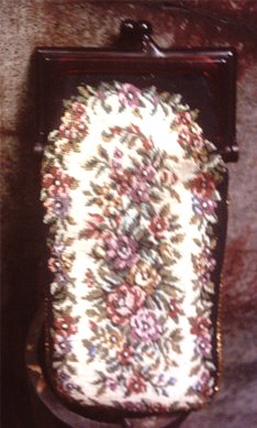 Eyeglass or Cigarette case Woven Cloth with Flower Design