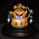 Fitz & Floyd - Halloween Pumkin Figure Trinket Box