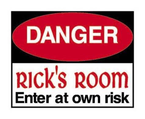 Personalized DANGER Kids Bedroom Door SIGN