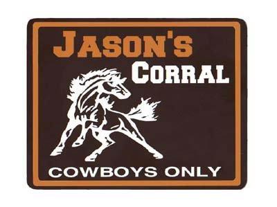 Personalized WILD HORSE Corral Kids Room Door SIGN