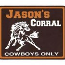 Personalized WILD HORSE Corral Kids Room Door SIGN