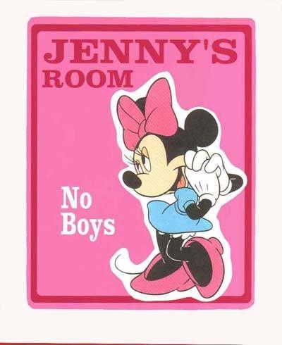 Personalized MINNIE MOUSE Girls Bedroom Door SIGN