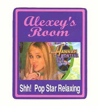 Personalized HANNA MONTANA Girls Bedroom Door SIGN,