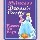 Personalized PRINCESS CINDERELLA Girls Room Door SIGN (Purple)