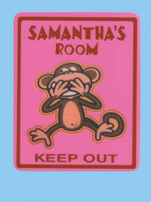 Personalized MONKEY Kids Bedroom Door SIGN