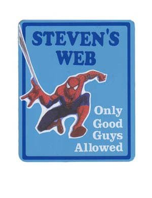Personalized SPIDERMAN Boys Bedroom Door SIGN