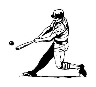 Baseball Player Graphic VINYL STICKER/DECAL