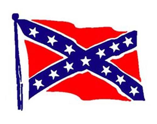 """CONFEDERATE FLAG 7"""" (AS PICTURED) DIE-CUT STICKER"""