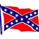 "CONFEDERATE FLAG 7"" (AS PICTURED) DIE-CUT STICKER"