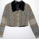 Dion of Texas Misses Vintage Short Jacket Bolero Size M Medium