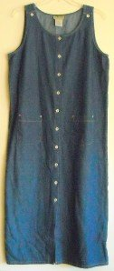 Sag Harbor Sport women's long denim dress size M Medium
