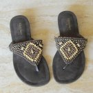 Mossimo womens sandals beaded size 6.5