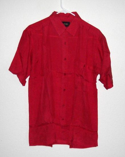 Silk Casual Red Shirt Size L NIB
