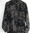 New 100% silk long sleeve printed mens shirt size S NIB