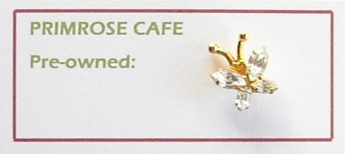 Vintage Butterfly Rhinestone tie tac pin
