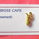 Small mini golf bag gold tone tie tac pin
