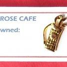 Golf bag gold tone tie tac pin