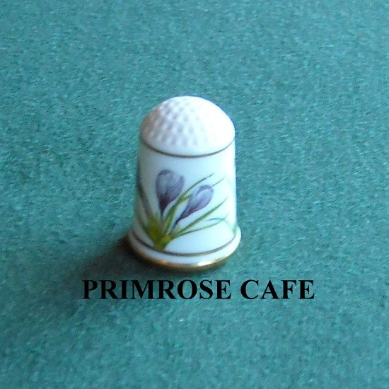 Franklin flowers of Nederland Holland porcelain thimble Crocus