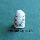 Franklin flowers of Nederland Holland porcelain thimble Cyclamen