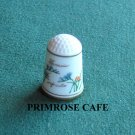 Franklin flowers of Nederland Holland porcelain thimble Freesia