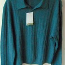 Cutter & Buck mens collar V neck cashmere sweater size L NWT
