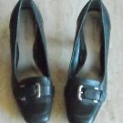 Worthington Women's Black Leather Slip On Shoes Size 9 M