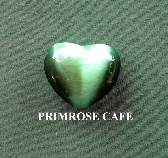 Green small solid glass heart shaped paperweight