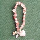 Beaded Stretch Semi Precious Stones Avon Harmony Pink Bracelet