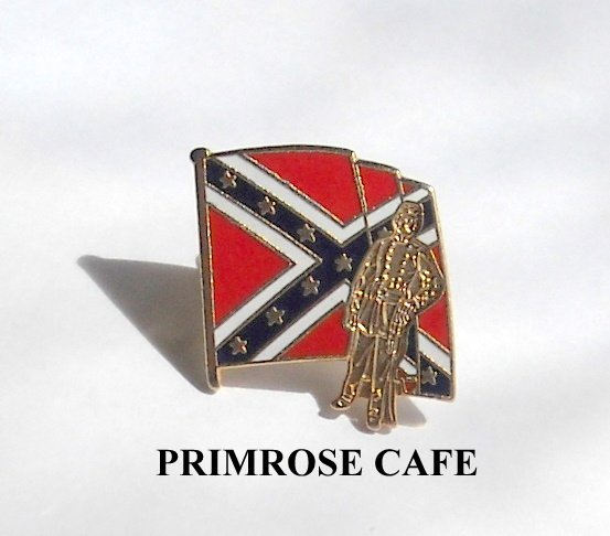 Vintage Soldier Rebel Flag Tie Tac Pin