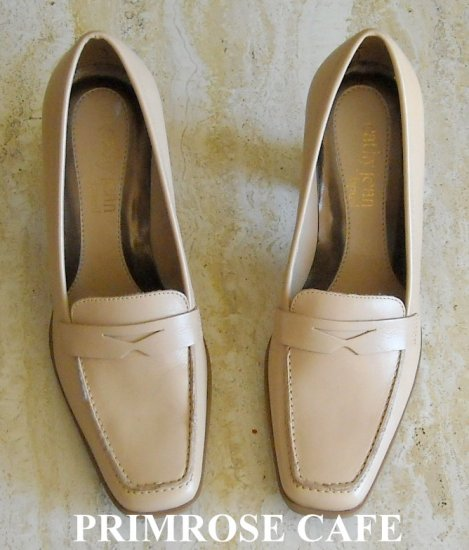 Cathy Jean Brazil Beige Leather Pump Shoes Size 6.5