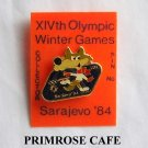 Collectors Olympics XIV 1984 Winter games Sarajevo Vucko tie tac hat lapel pin