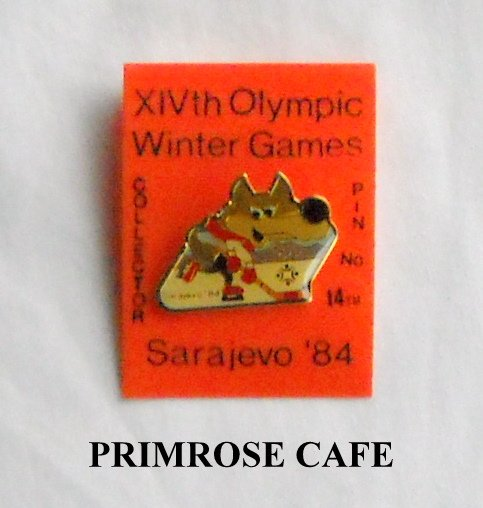 Collectors Olympics XIV 1984 Winter games Sarajevo hockey # 14 tie tac hat lapel pin