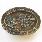 Vintage 1924 American La France Siskiyou Brass Color Belt Buckle
