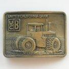 Vintage UCB United California Bank metal alloy belt buckle
