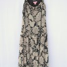 Bandolino womens Black Beige Spaghetti Strap dress size 4