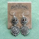 Lucky Brand Silver tone Retro Dangle Classic Peace earrings